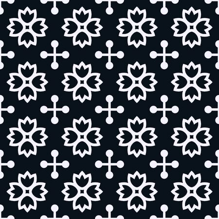 white wallpaper: Seamless pattern with decorative ornament Illustration