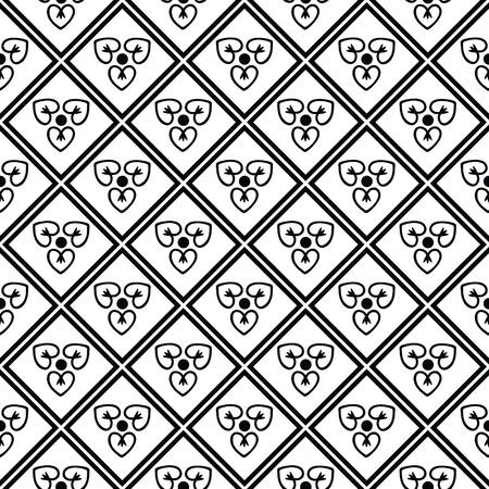 diamante negro: Patrón sin fisuras con el ornamento decorativo
