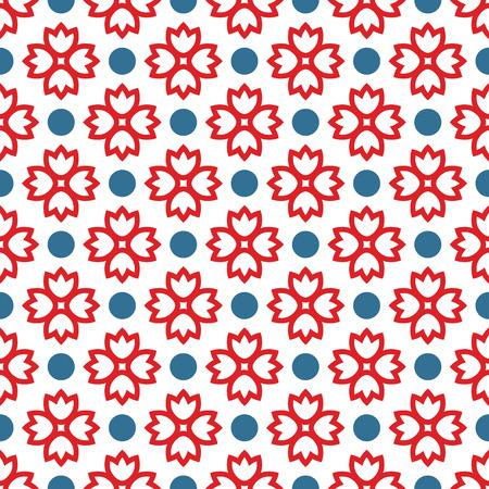 dessin fleur: Seamless pattern avec ornement abstrait Illustration