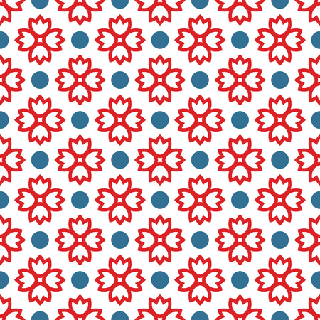 circle flower: Seamless pattern with abstract ornament