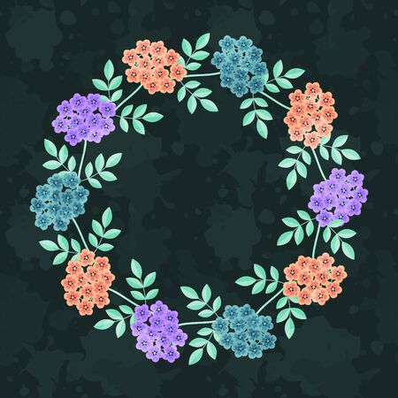 decorative frame: Decorative frame with vector flowers