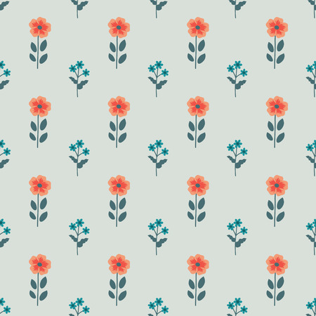 simple background: Seamless pattern with decorative flowers