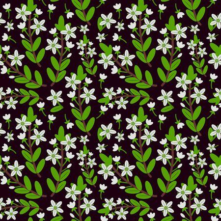 blumen verzierung: Seamless Pattern mit floralen ornament  Illustration