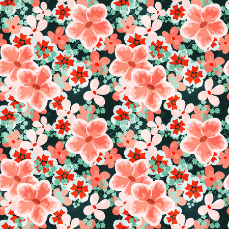 drawing on the fabric: Seamless pattern with decorative ornament Illustration