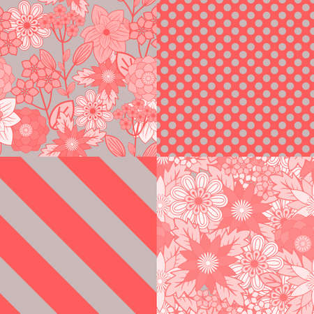 botanical gardens: Patterns set with decorative ornament Illustration