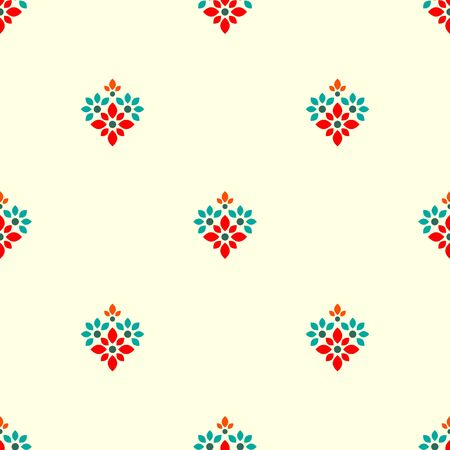 Seamless pattern with decorative ornament  イラスト・ベクター素材