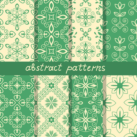seamless: Seamless patterns with decorative ornament Illustration