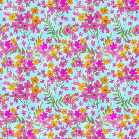 nakładki: Seamless decorative pattern with paint imitation overlay