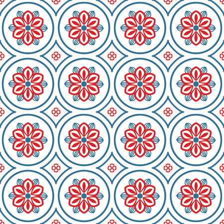 fabric patterns: Seamless pattern with abstract ornament