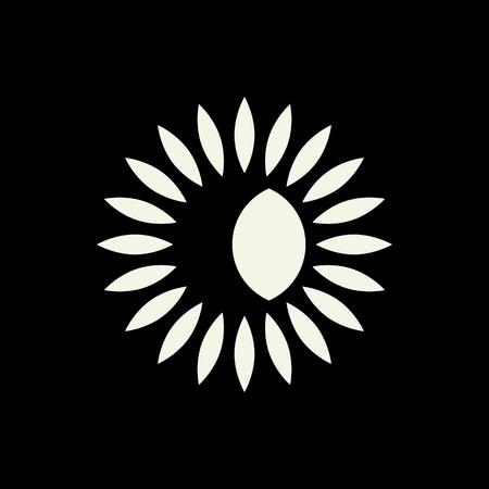 bstract: Sun amd moon abstract symbol