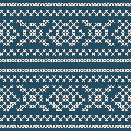 punto cruz: patr�n de punto de cruz �tnica incons�til decorativo