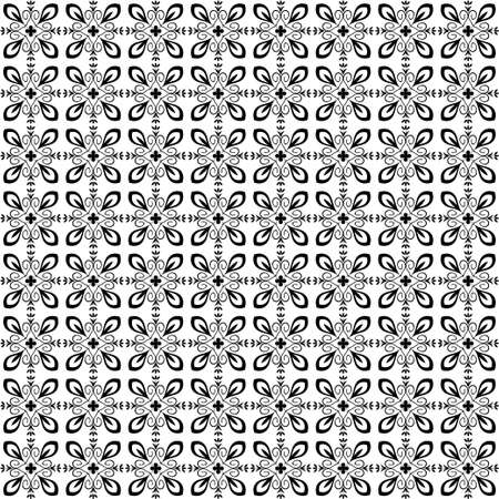 blak and white: Seamless pattern with abstract ornament