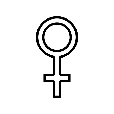 Simple black and white Venus icon