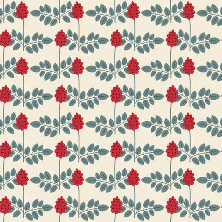 sanguisorba: Seamles pattern with decorative flowers Illustration