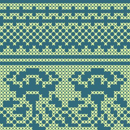 cross stitch: Decorative seamless ethnic cross stitch pattern