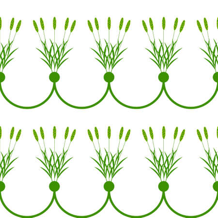 bunch: Seamless decorative plant border with alopecurus bunch