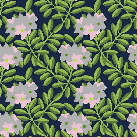 azalea: Seamless pattern with decorative flowers