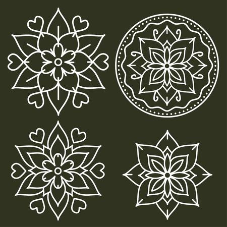 Kolam style decortive vector designs
