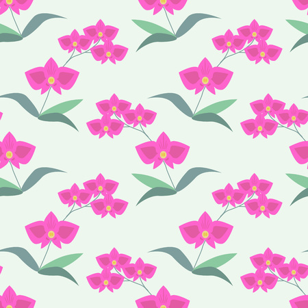 pattern: Seamless pattern with decorative orchids