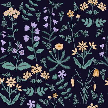 pattern: Seamless decorative pattern with flowers
