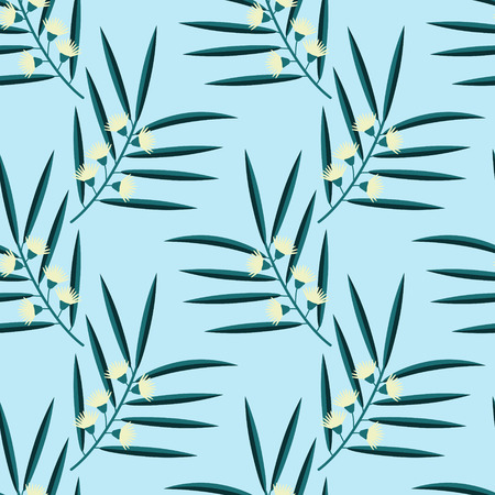 gum tree: Seamless pattern with eucalyptus branches Illustration