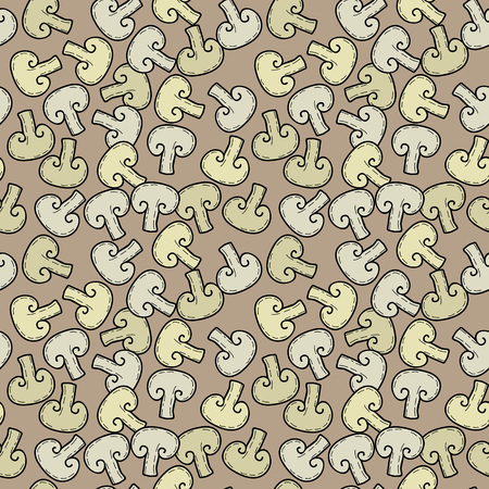 Seamless vector pattern with mushrooms Ilustrace