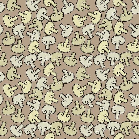 Seamless vector pattern with mushrooms Фото со стока - 79572743