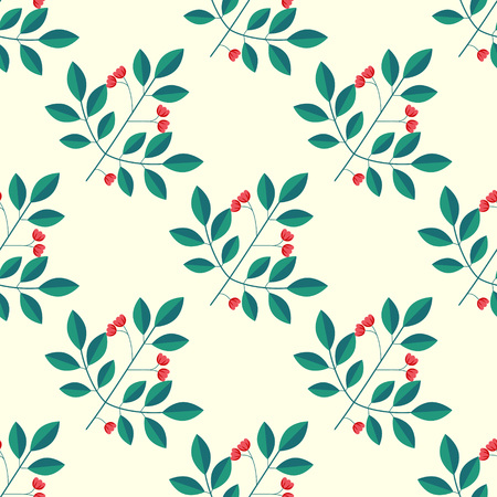 Seamless pattern with spindle branches Illusztráció