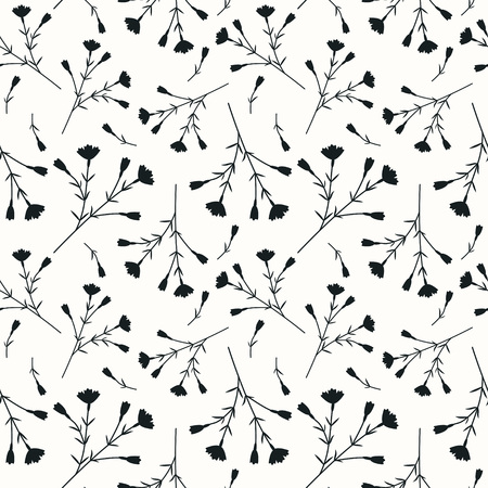 Seamless decorative pattern with carnations