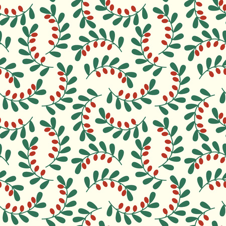 Seamless pattern with goji berries Illustration