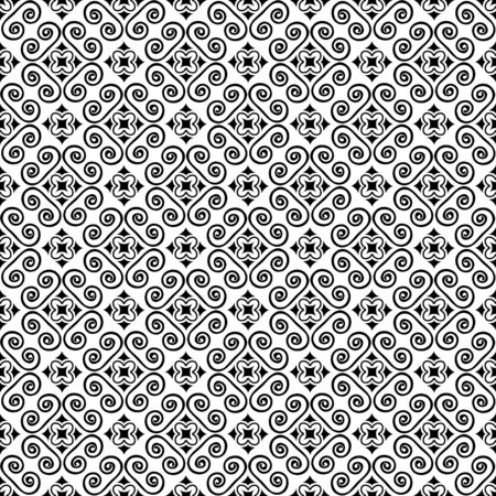 Seamless abstract pattern with decorative ornament Ilustracje wektorowe