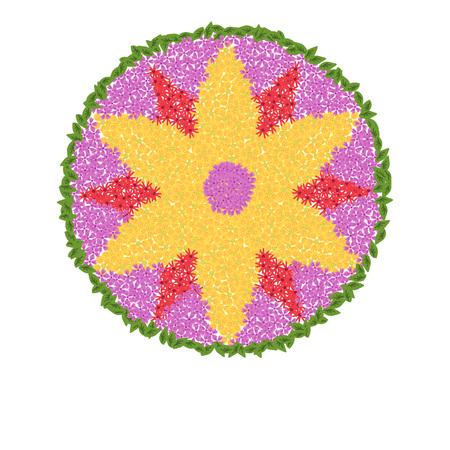 Onam festival vector floral decoration