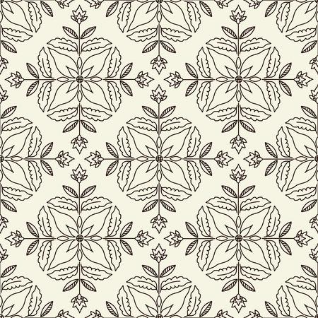 Seamless pattern with decorative ornament Иллюстрация