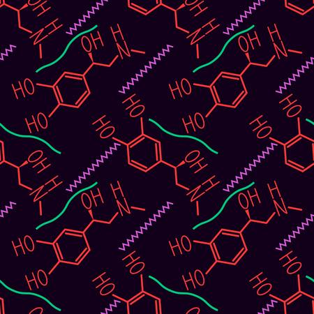 Seamless epinephrine molecule vector pattern