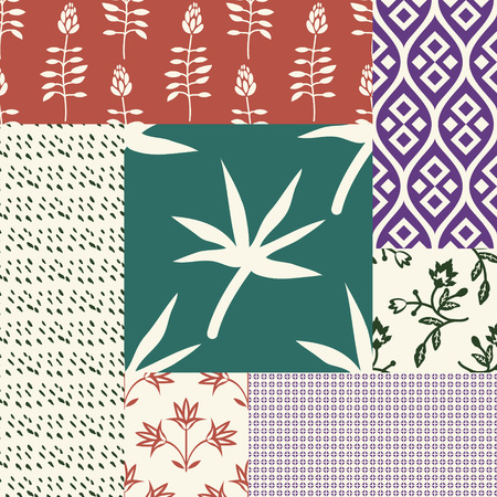 Sealess patterns with various ornaments