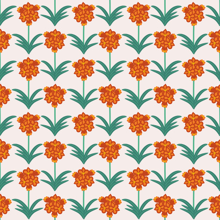 Seamless decorative clivia vector pattern