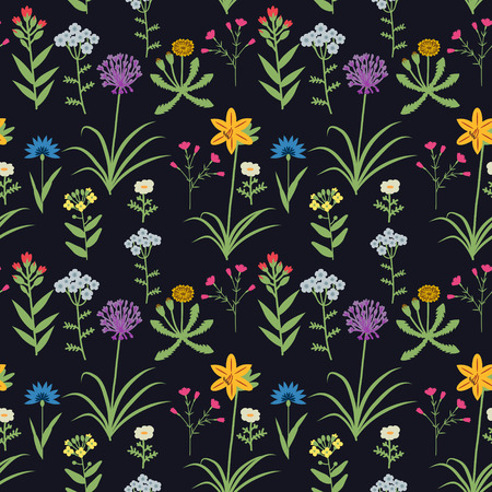 Semless pattern with decorative flowers
