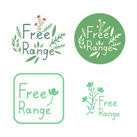 Free range vector signs set