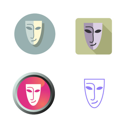 Mask icons set various style