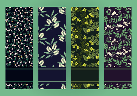 Set of banners with flowers for essential oil designs