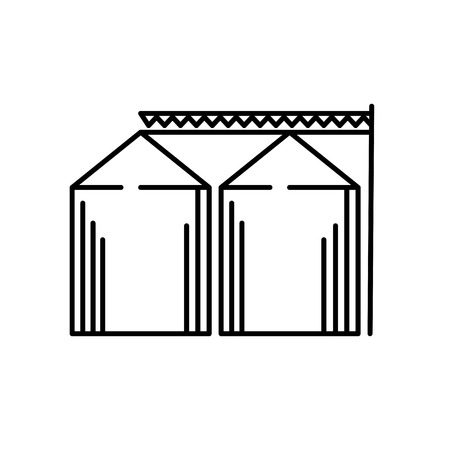 Grain elevator icon black and white Иллюстрация