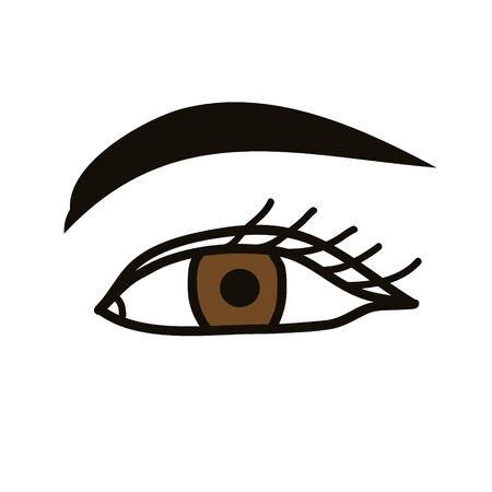 Eye and brow vector isolated icon