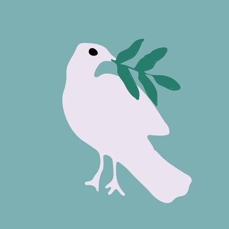 Day of peace illustration with bird