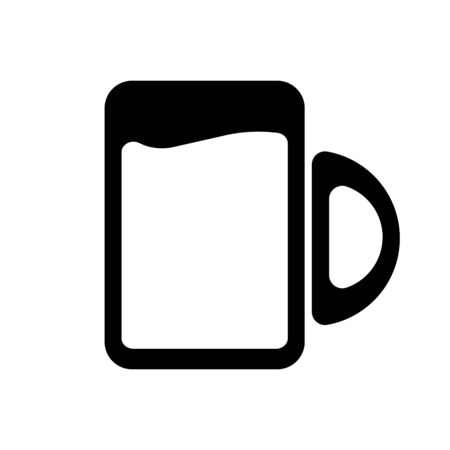 Cup vector isolated flat icon Çizim
