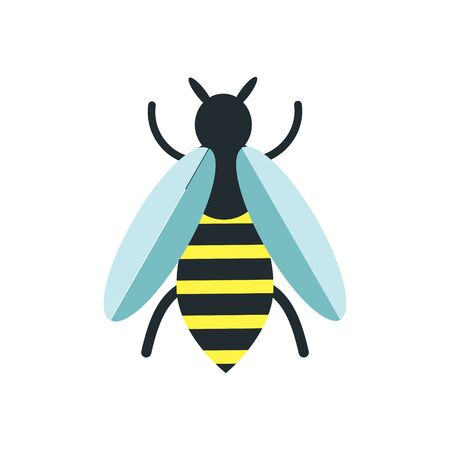 Bee vector isolated icon