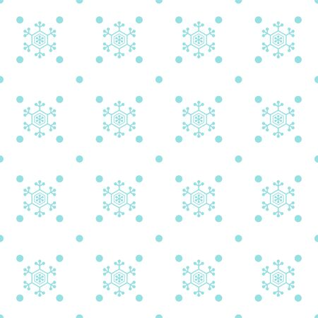 Seamless snow and dots pattern Çizim