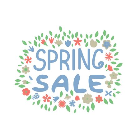 Spring sale vector isolated element Ilustracja