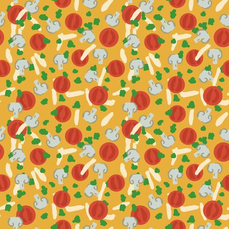 Seamless simple vector pizza pattern Ilustracja