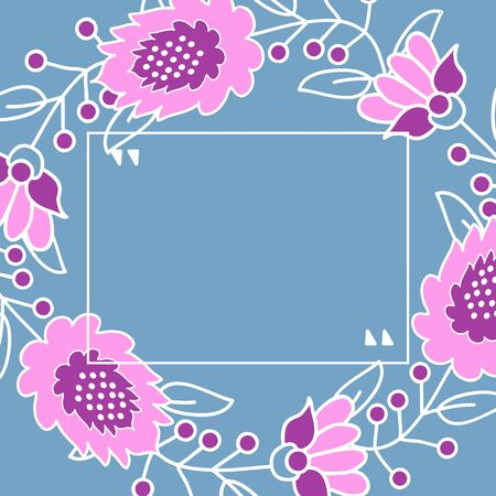 Vector floral background with pink flowers
