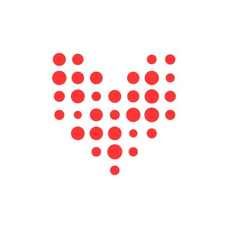 Isolated red heart simple icon